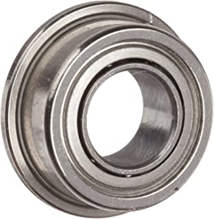 Dynaroll Precision Miniature Ball Bearing, ABEC-5, Double Shielded, Flanged, Stainless Steel, Metric