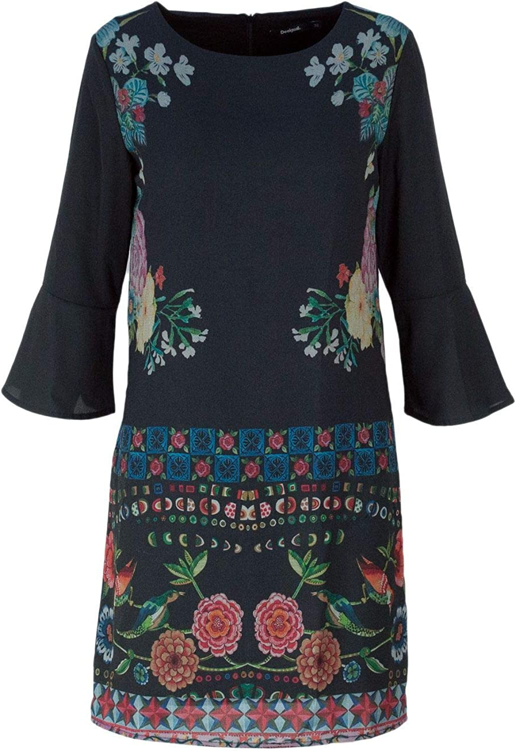 Desigual Women's 18WWVW90BLACK Black Polyester Dress