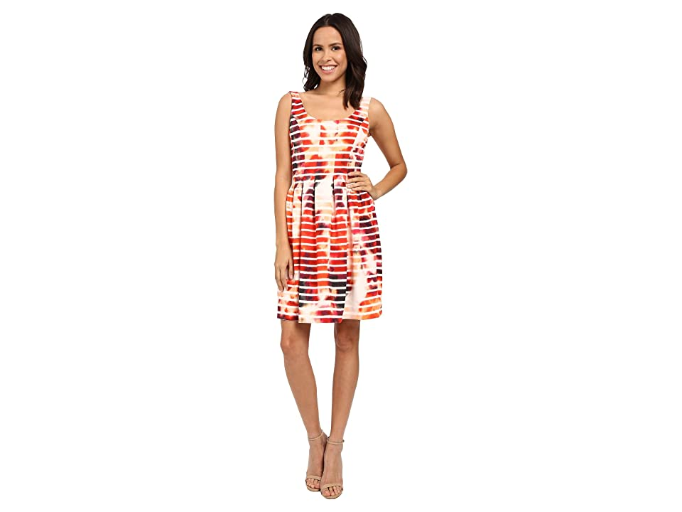 Jessica Simpson Printed Scuba Fit and Flare (Print) Women