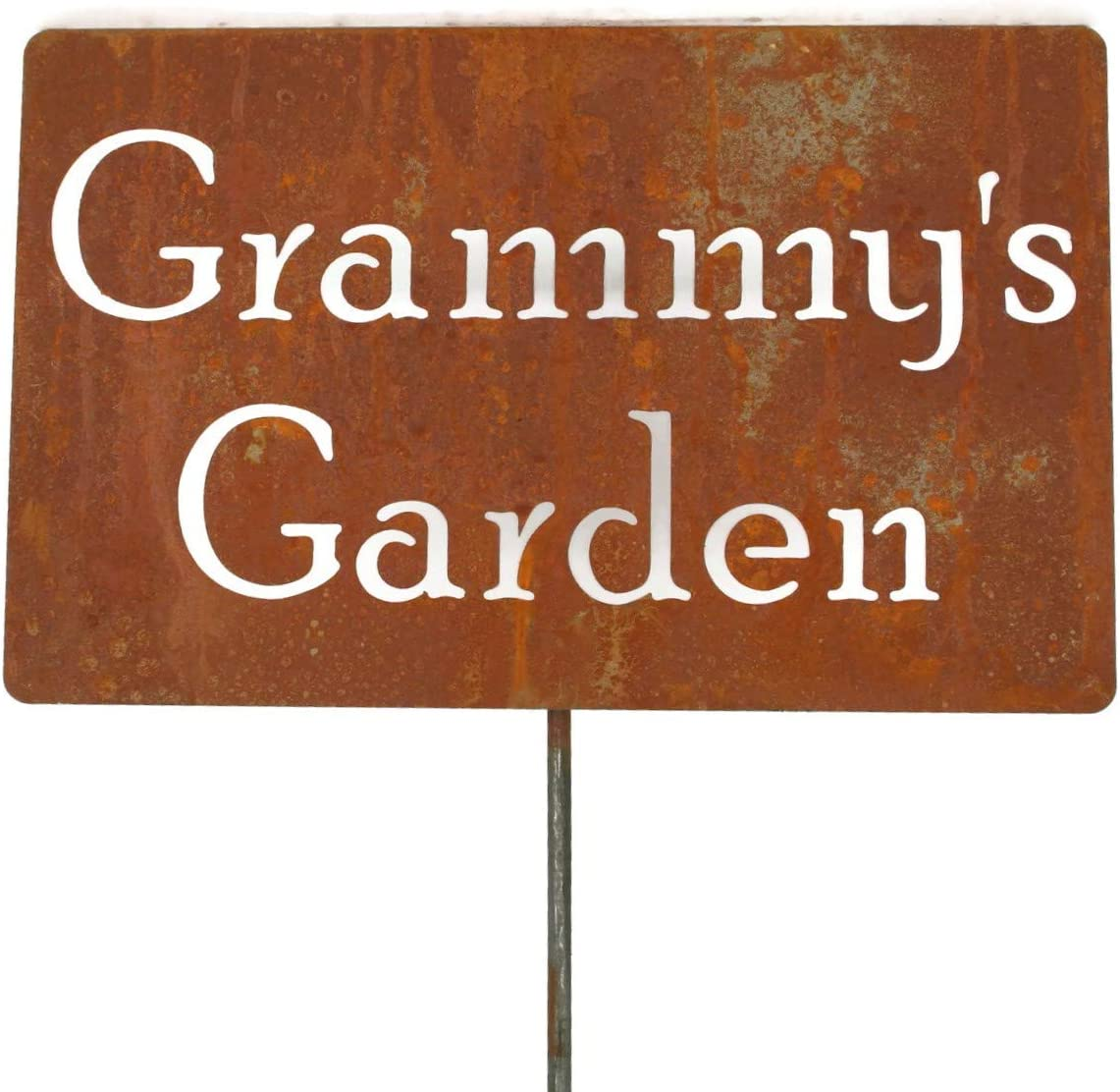 81 Metal スーパーSALE セール期間限定 Art Family Name 高い素材 Gift Garden Stake 33 20.5 to Inches Tal
