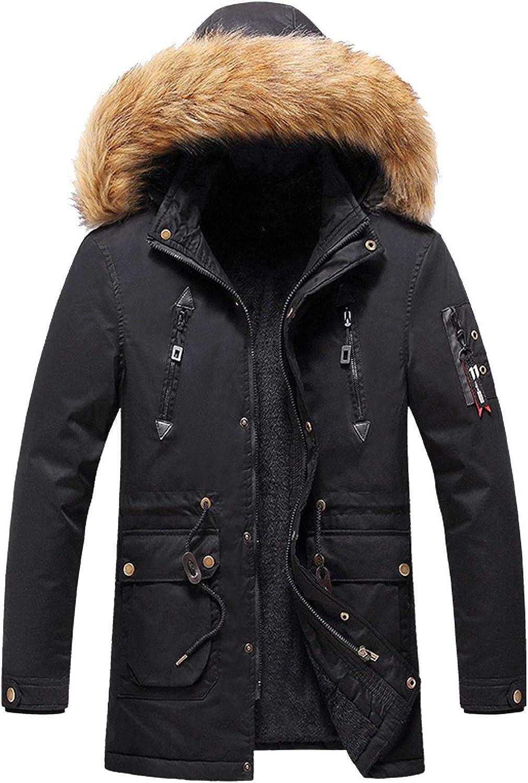 Mens Winter Coat Hoodie Sweatshirt Fleece Jacket Warm Windproof Thick Coats for Winter Workout Outdoor Sport