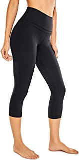 CRZ YOGA Women's Naked Feeling I High Waist Tight Yoga Pants Workout Capris Leggings with Pocket -21 Inches