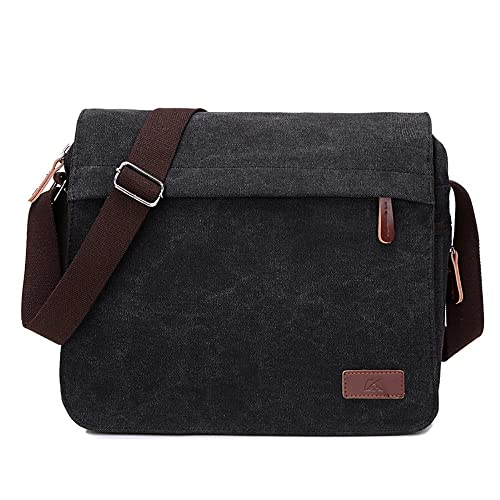 ad982f330fa3 HASAGEI Retro Canvas Messenger Bag Shoulder Crossbody Bag Laptop Bag  Satchel Bag for Men and Women