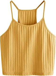 Women's Summer Basic Sexy Strappy Sleeveless Racerback Crop Top