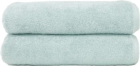 Linum Home Textiles Soft Twist Premium Authentic Soft 100% Turkish Cotton Luxury Hotel Collection Bath Towel, Set of 2, Aq...
