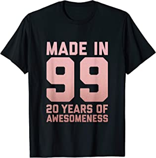 20th Birthday Shirt Women Girls Twenty Age 20 Year Old Gifts