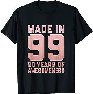 20th Birthday Shirt Women Girls Twenty Age 20 Year Old Gifts