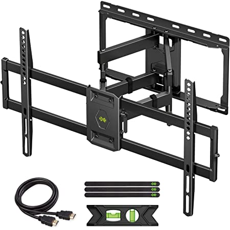 """USX MOUNT Full Motion TV Wall Mount for Most 47-84 inch Flat Screen/LED/4K TVs, TV Mount Bracket Dual Swivel Articulating Tilt 6 Arms, Max VESA 600x400mm, Holds up to 132lbs, Up to 16"""" Wood Stud"""