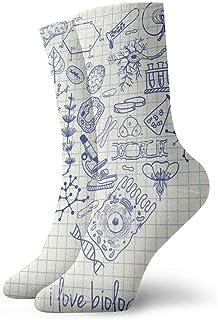 U Shape, Calcetines deportivos unisex con cuello redondo de I Love Biology Novelty