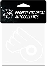 WinCraft NHL Philadelphia Flyers 4x4 Perfect Cut White Decal, One Size, Team Color