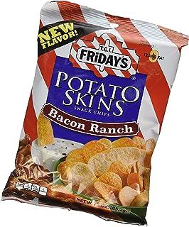 TGI Fridays Potato Skins , Large 6.75 oz. Bags, Pack of 3 (Bacon Ranch)