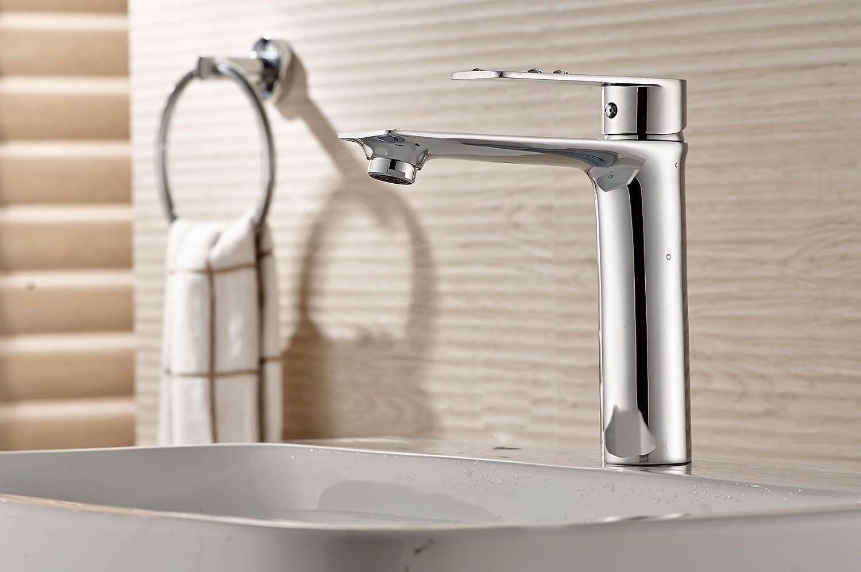 ETERNAL QUALITY Bad Waschbecken Wasserhahn Küche Waschbecken Wasserhahn Kupfer-Einloch-Einhandgriff Aus Heiem Und Kaltem Edelstahl Waschtischmischer BQ506ca