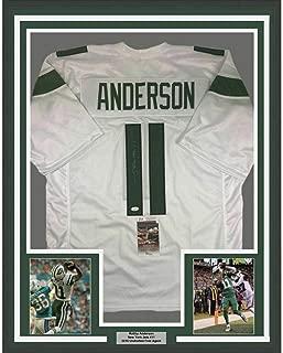 Robby Anderson (New York Jets) Signed Jersey - FRAMED 33x42 NY 2019 White COA - JSA Certified - Autographed NFL Jerseys