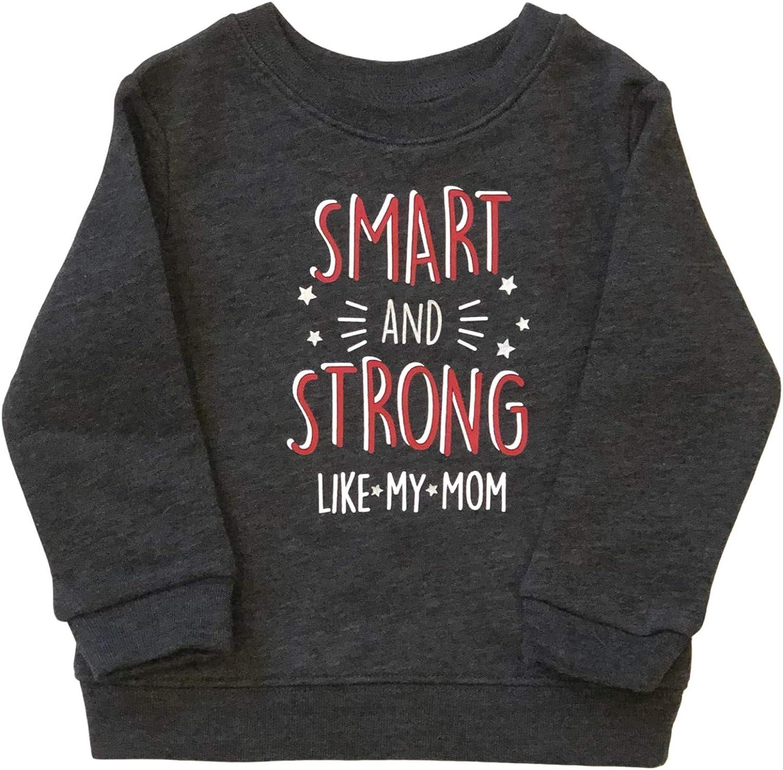 Infant Boys Gray Smart & Strong Like My Mom Sweatshirt Baby Top Sweat Shirt
