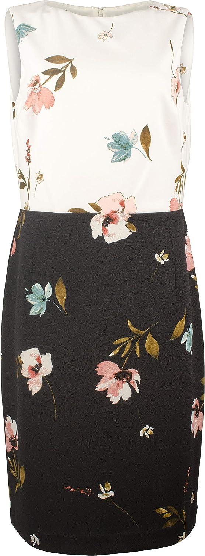 Women's Floral Print Crepe Dress-BM-2