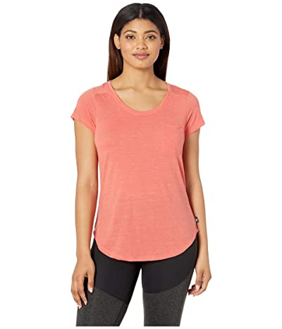 The North Face Short Sleeve Boulder Peak Top (Spiced Coral Heather) Women