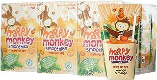 Happy Monkey Orange and Mango Smoothies (Pack of 24), 4320 ml