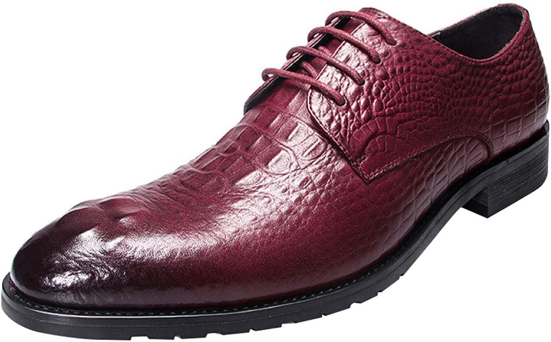 Men's Imitation Crocodile Lace Derby shoes Business Casual Dress shoes