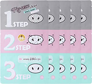 Holika Holika Pig Nose Clear Black Head 3-Step Kit, 5 Count