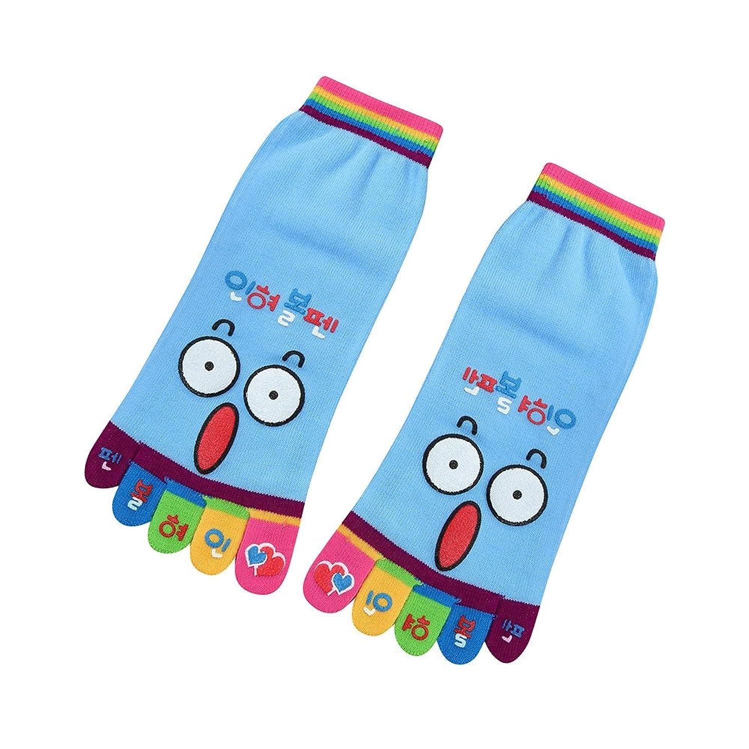Clearance Sale! Women Cartoon Toe Socks Five Finger Cotton Socks JMETRIE Funny Socks