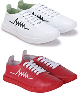 Treadfit Combo Pack of 2 Perfect Sneakers for Men (Multicolor)