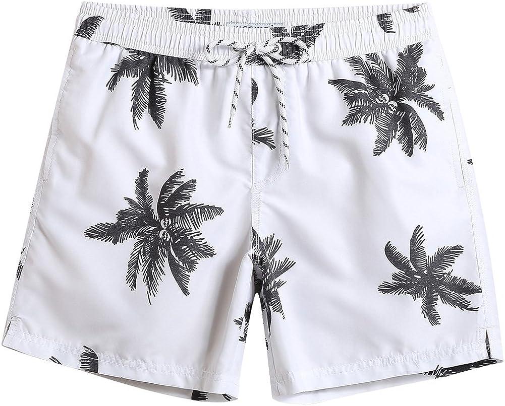 maamgic Mens Quick Dry Printed 5 ☆ popular Short Linin Trunks Swim with Mesh Max 90% OFF