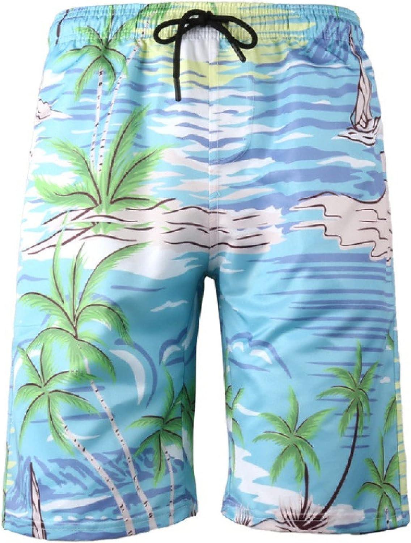 Segindy Men's Beach Shorts Summer Fashion Personality Printed Comfortable Breathable