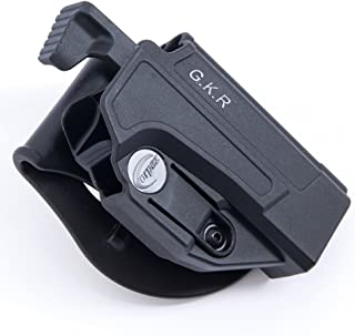 Orpaz Black Polymer 1911 Thumb Release Holster Rotation Paddle Tension Adjustment Fits all 1911 Picatinny-Rail & Without