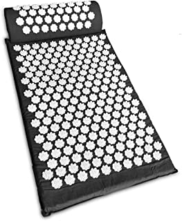 Savingmoney Acupressure Mat and Neck Pillow Set Back and Neck Pain Relief,Include Yoga Acupuncture Mat + Pillow + Backpack...