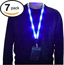 LED Light Up Flashing Lanyard Neck Straps Band Necklace Make You Being Seen and Charming at Night 3 Flashing Modes, Long-Lasting, Quick Flashing, Slow Flashing for ID Cards Badges Business ID, Blue