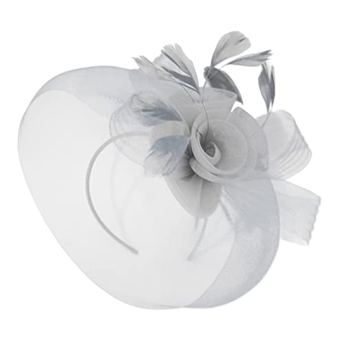 41c60ab85afe7 Caprilite Wedding Races Party Fascinator Veil Net Hat With Cones and  Feathers Hatinator