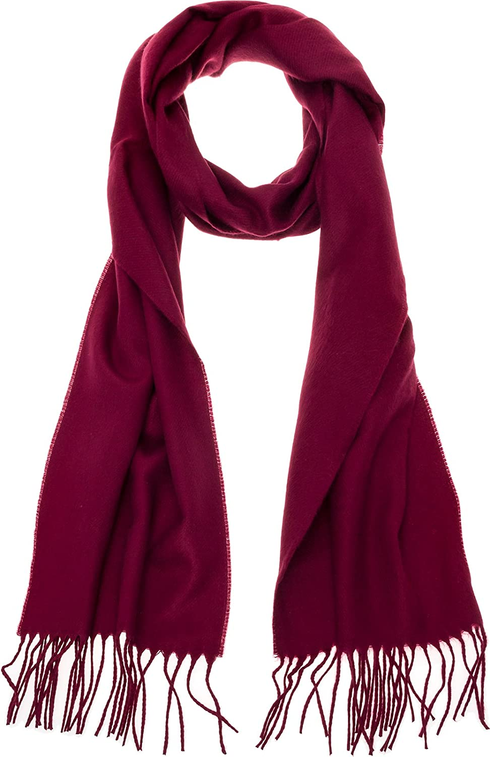 100% Cashmere Wool Scarf  Super Soft 12  x 64.5  Shawl Wrap w Gift Box for Women and Men