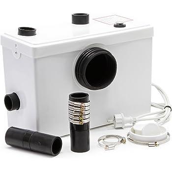 SFA 0015UP SANI PRO XR UP - Bomba de elevación, perfecta para la instalación de un cuarto de baño, evacúa aguas residuales y válvulas hasta 5 verticalmente o 100 metros horizontalmente, color