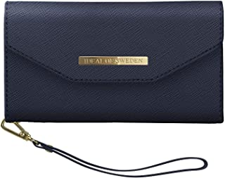 iDeal Of Sweden Mayfair Clutch Wallet in Blue Navy Design for iPhone 8/7/6/6s -Detachable Strap & Magnetic Phone Case w/Ca...