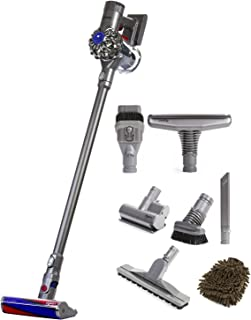 Dyson Animal V6 Fluffy Cordless Vacuum with Attachments (Complete Set), with Premium Microfiber Cleaner Bundle
