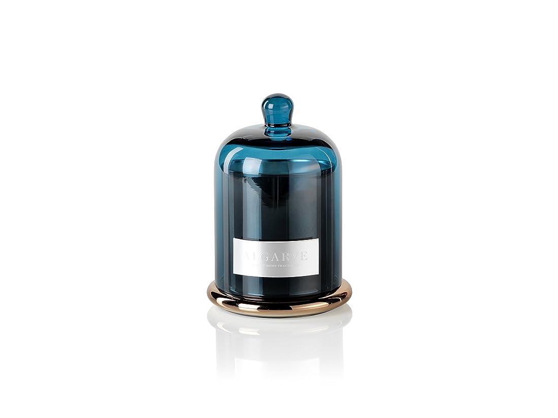 ポスト印象派メロディアス先史時代のZodax Algarve Scented Candle Jar withガラスドームセット(Set of 2?)、ミディアム、2ピース
