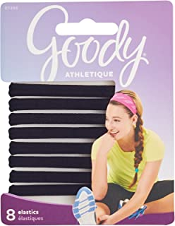 Goody Women's Athletique Sweat Stretch Elastics, 8 Count
