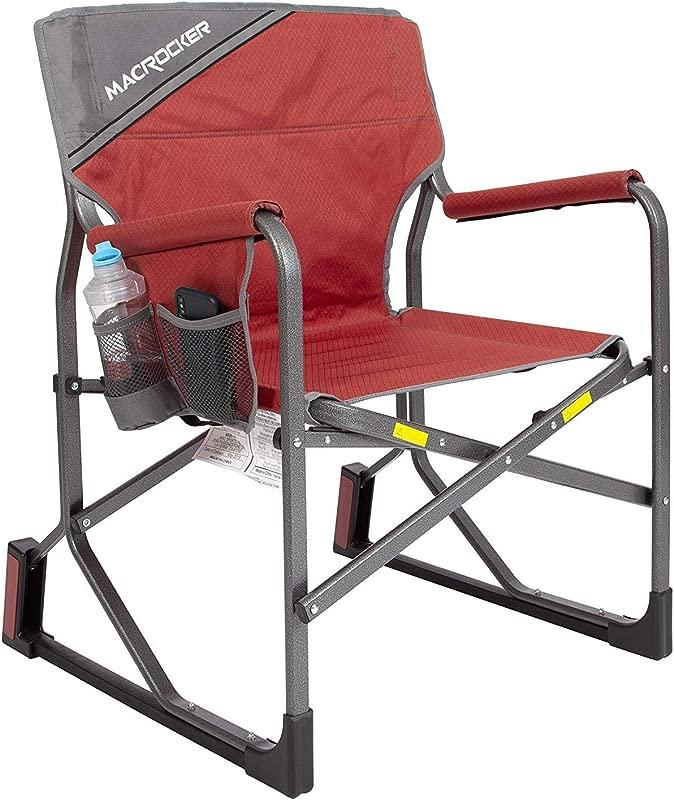 Mac Sports MacRocker Foldable Outdoor Rocking Chair Red