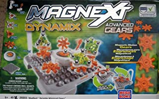 Mega Bloks Magnext Dynamix Advance Gears 49 Pieces 20+ Extreme Configurations W Magnetic Motion (2008)