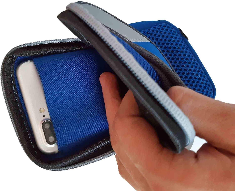 Brassard de Sport pour Samsung Galaxy A20e,Pochette t/él/éphone pour Le Sport Sacoche avec Rangement pour Le Jogging Poche de Rangement sur Le Bras L Bleu
