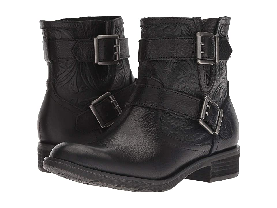 Sofft Brinson (Black Wild Steer/Daisy Emboss Cow Oily Veg) Women's Pull-on Boots