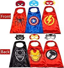 Superhero Cape for Kids- Double Sided Cape and Mask Cosplay Costumes Kids Best Gifts…