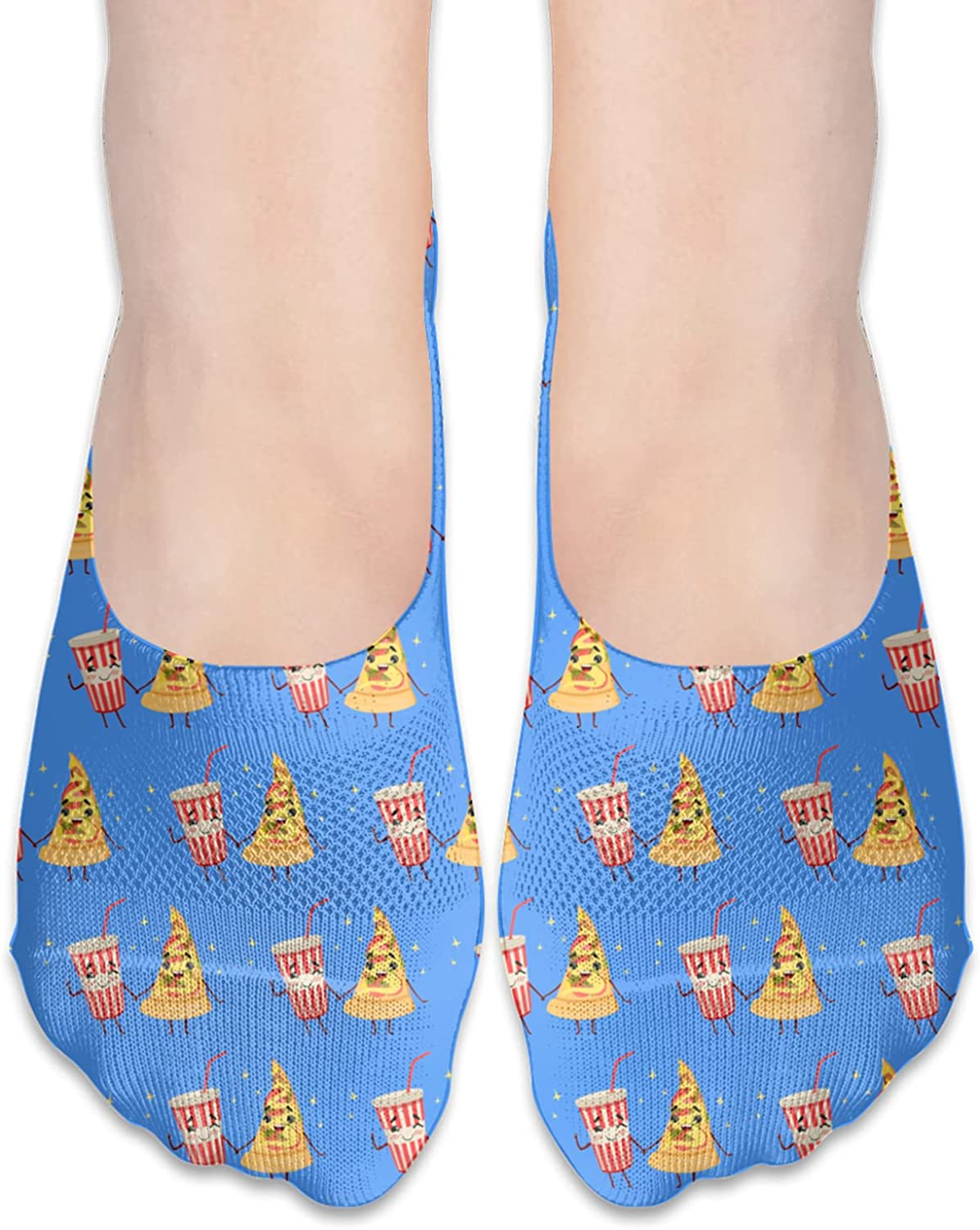 No Show Socks Women Men For Funny Cocktail And Slice Pizza Flats Cotton Ultra Low Cut Liner Socks Non Slip