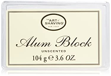 The Art of Shaving Alum Block, Natural Minerals Helps Stop Bleeding from Nicks or Cuts, Unscented, 3.6 Ounce