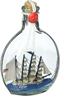 Hampton Nautical Flying Cloud Model Ship in a Glass Bottle Christmas Ornament, 4