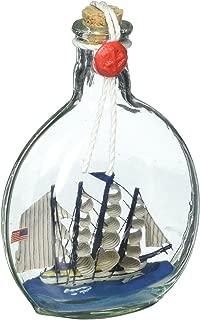 Hampton Nautical Flying Cloud Model Ship in a Glass Bottle Christmas Ornament, 4
