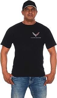 JH DESIGN GROUP Men's Chevy Corvette C7 Black Crew Neck T-Shirts in 2 Styles