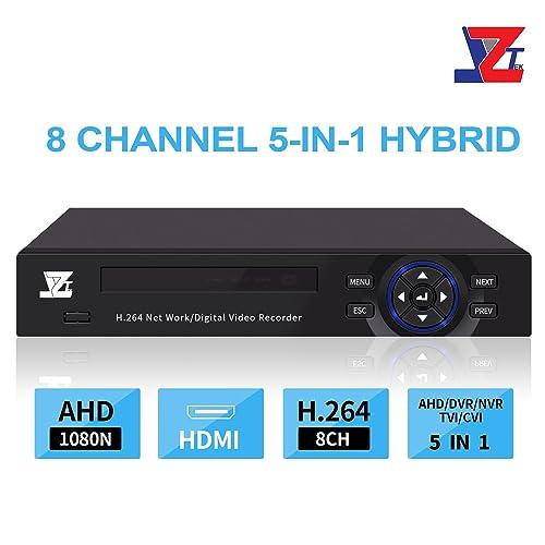 Amazon com : JZTEK 8ch 1080N Hybrid 5-in-1 AHD DVR (1080P
