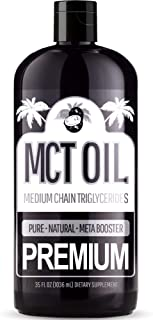 Premium MCT Oil – with C8 and C10 Brain Fuel - Derived Only From Coconuts - Keto & Paleo Diet Weight Loss Approved - Perfe...