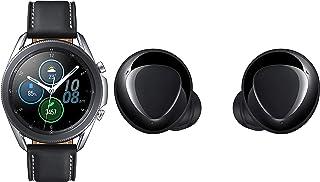 Samsung Galaxy Watch 3 45mm Bluetooth (Mystic Silver),SM-R840NZSAINS with Buds+